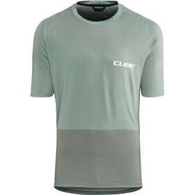 Cube Edge Round Neck Jersey shortsleeve Herr green